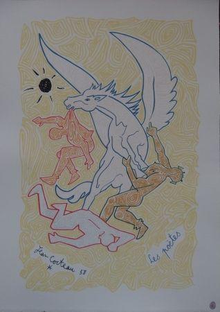 Litografía Cocteau - Les poètes
