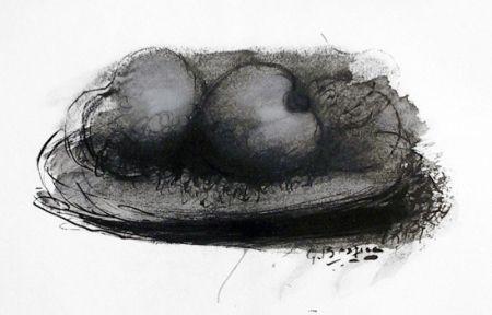 Litografía Braque -  Les Pommes