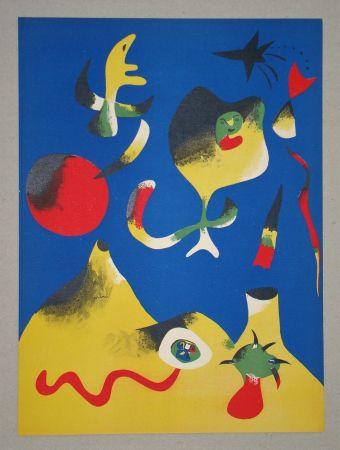Litografía Miró (After) - Les quatre éléments - Air