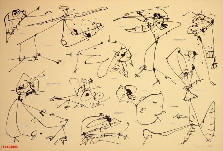 Litografía Saura - Les quatre saisons, Automne