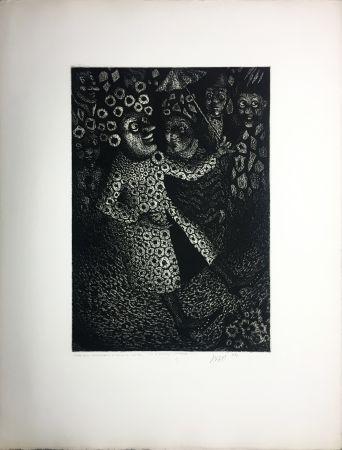 Aguatinta Avati - Les Ridicules (planche n° 2) (1951)