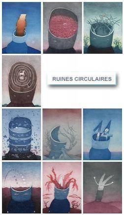 Aguafuerte Y Aguatinta Folon - Les Ruines Circulaires - The Circular Ruins (complet suite)
