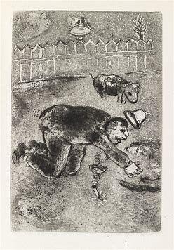 Aguafuerte Chagall - Les sept Peches capitaux: L'Avarice 11