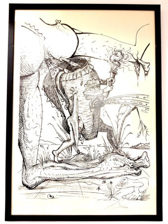 Litografía Dali - Les Songes Drolatiques