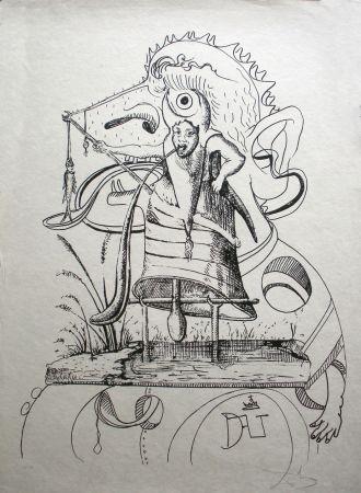 Litografía Dali - Les Songes drolatiques de Pantagruel 11