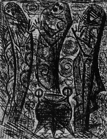 Aguafuerte Gromaire - Les sorcieres
