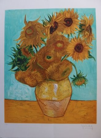 Litografía Van Gogh - Les Tournesols