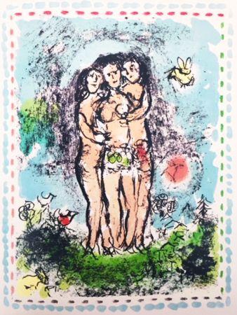 Litografía Chagall - Les Trios Nus