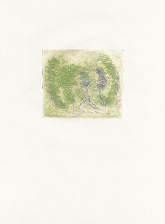 Aguafuerte Fautrier - Les trois arbres (Fautrier l'enragé)