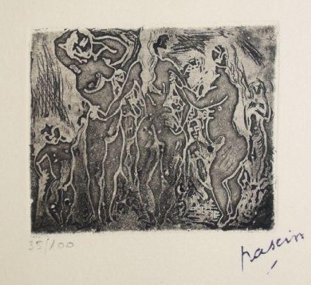 Grabado Pascin - Les trois graces