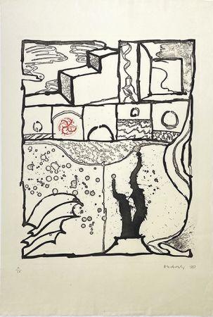 Grabado Alechinsky - Les trois marches