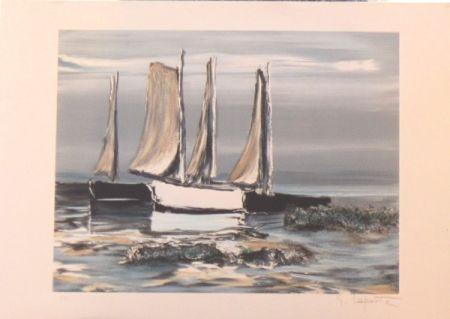 Litografía Laporte - Les voiliers