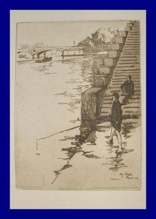 Aguafuerte Y Aguatinta Bejot - L'escalier