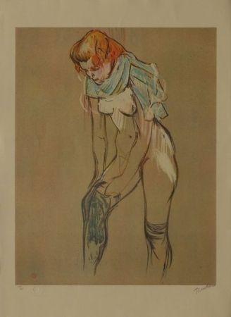 Litografía Toulouse-Lautrec - L'Essayage des bas I