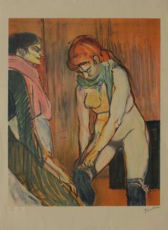 Litografía Toulouse-Lautrec - L'Essayage des bas II