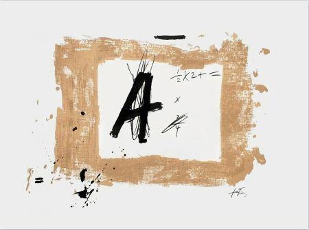 Litografía Tàpies - Lettre