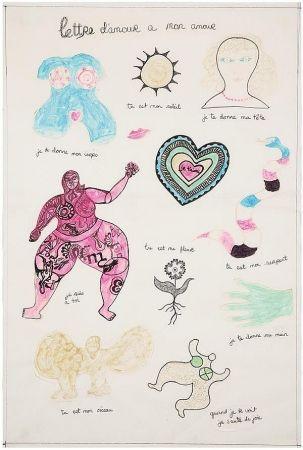 Múltiple De Saint Phalle - Lettre d'amour à mon amour