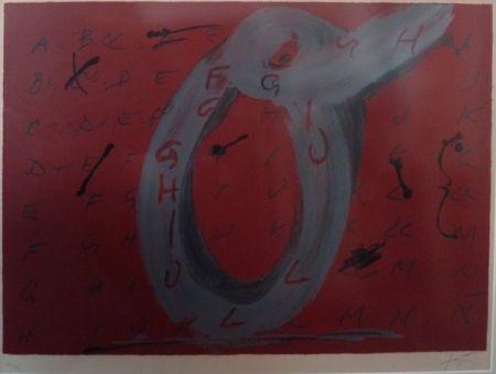 Litografía Tàpies - Lettre O