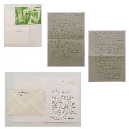 Sin Técnico Klossowski - Lettres manuscrites