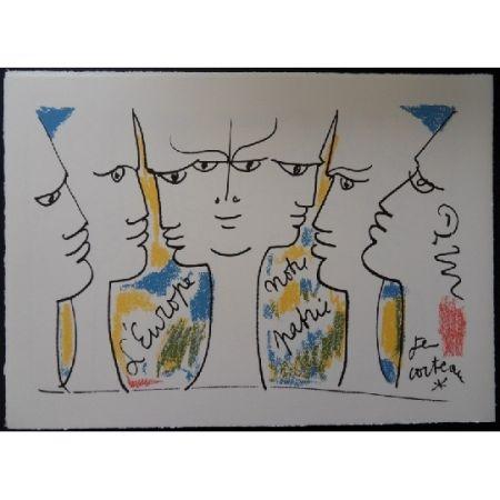 Litografía Cocteau - L'Europe notre patrie