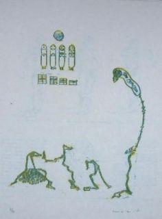 Litografía Ernst - Lewis Carroll's Wunderhorn 11