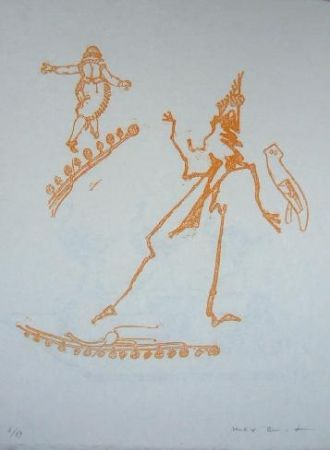 Litografía Ernst - Lewis Carroll's Wunderhorn 15