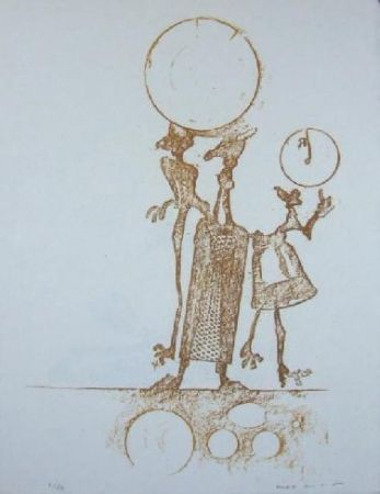 Litografía Ernst - Lewis Carroll's Wunderhorn 18