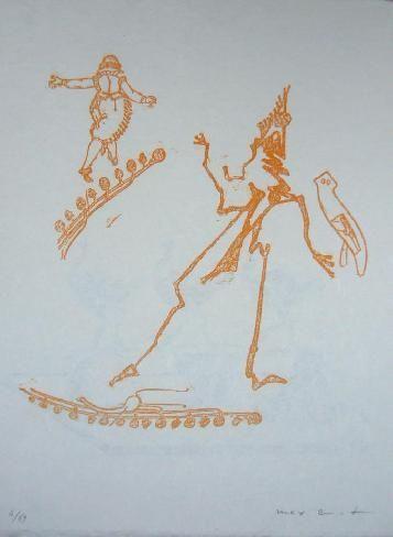 Litografía Ernst - Lewis Carroll's Wunderland 15