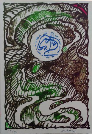 Litografía Alechinsky - L'excédante 2