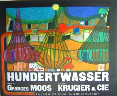 Litografía Hundertwasser - L'Expulsion