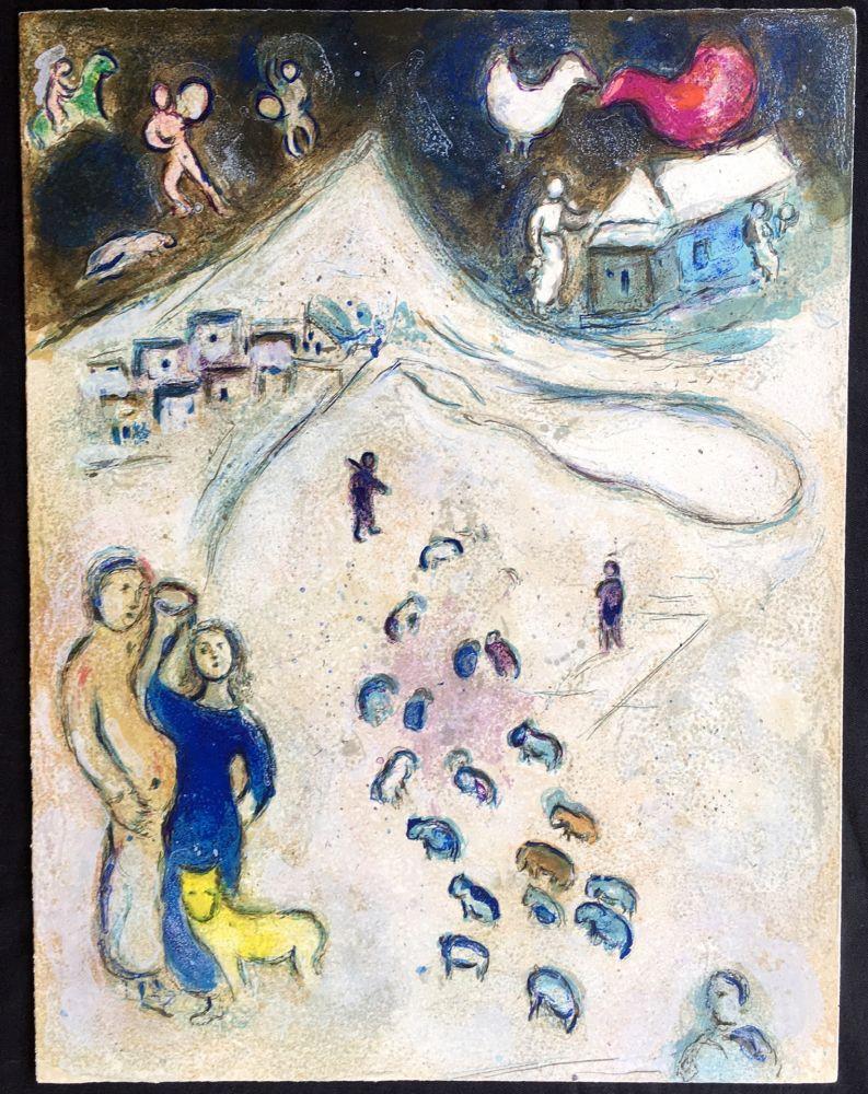 Litografía Chagall - L'Hiver (Winter from Daphnis & Chloé. 1961)