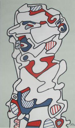 Litografía Dubuffet - L'Homme