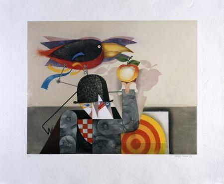 Aguatinta Marin - L'homme-oiseau