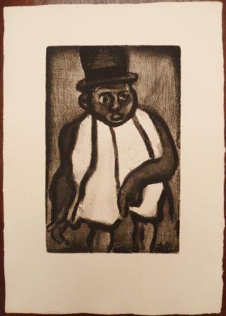 Grabado Rouault - L'homme à l'écharpe