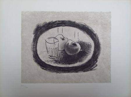 Litografía Braque - L'homme à l'écharpe