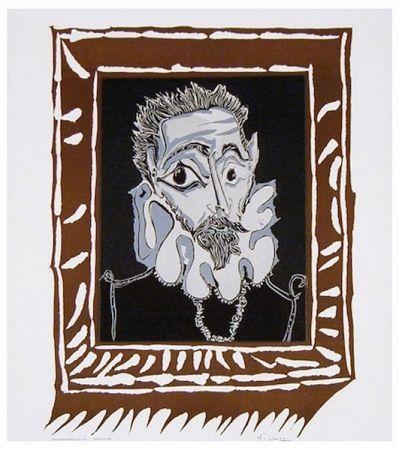 Litografía Picasso - L'Homme à la Fraise (Man with Ruff)