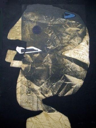 Aguafuerte Y Aguatinta Clavé - L'homme À La Pipe