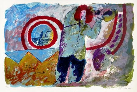 Litografía Tobiasse - L'HOMME A LA CRUCHE