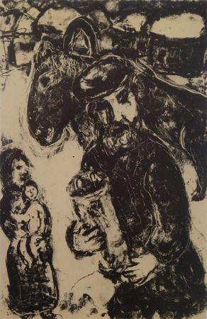 Litografía Chagall - L'Homme a la Thora
