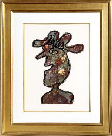 Litografía Dubuffet - L'Homme au Chapeau