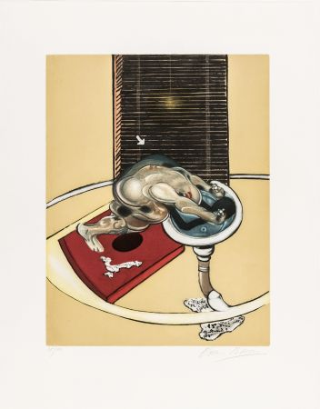 Aguafuerte Y Aguatinta Bacon - L'homme au lavabo