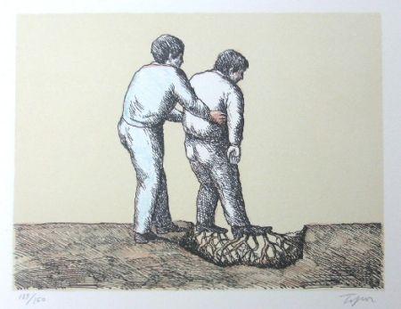 Litografía Topor - L'Homme Déraciné