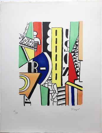 Litografía Leger - L'HOMME DANS LA VILLE (1959).