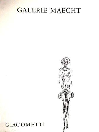 Litografía Giacometti - L'Homme Debout
