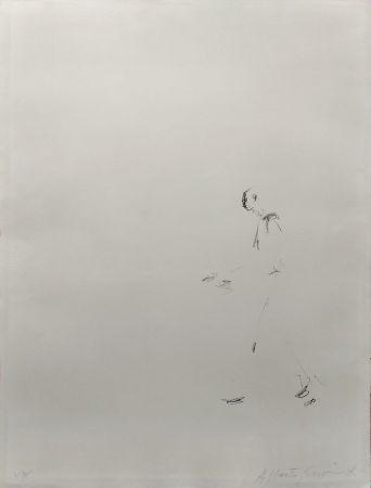 Litografía Giacometti - L'HOMME QUI MARCHE