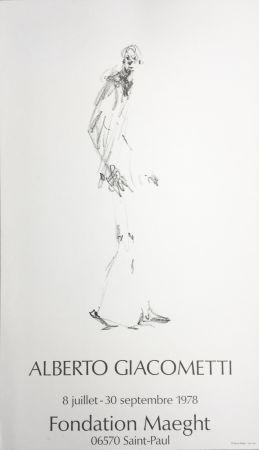 Cartel Giacometti - L'HOMME QUI MARCHE. Fondation Maeght du 8 juillet au 30 septembre 1978.