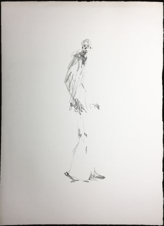 Litografía Giacometti - L'HOMME QUI MARCHE. Lithographie pour