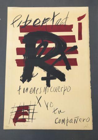 Litografía Tàpies - Libertad