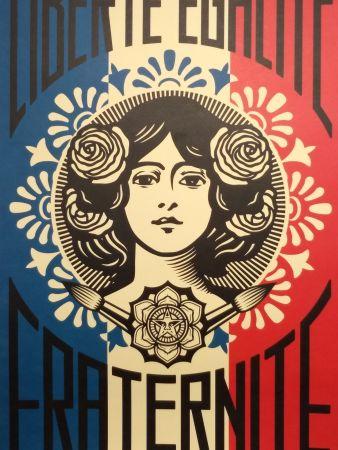 Litografía Fairey - Liberte