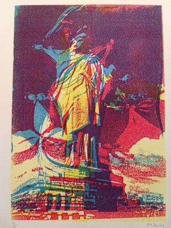 Litografía Bury - Liberty